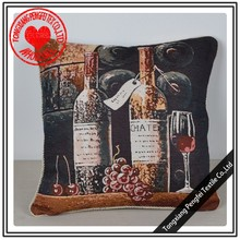 wholesale plain linen pillow covers full printed customized design decorative floor pillows