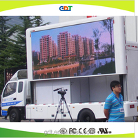 led screen moving advertisement van, led billboard trailer mobile billboard truck