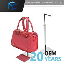 New Product Quality First Custom Tag Metal Bag Display Stand With Hook Adjustable