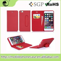 Wholesale Mobile Phone Accessories Pu Leather Wallet Case With Card Slots For iPhone 6 Plus