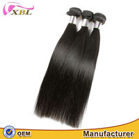 XBL cut from one donor real human hair100 indian virgin hair machine weft