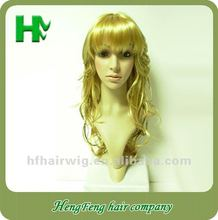 The latest long blonde curly synthetic hair wigs The latest long blonde curly synthetic hair wigs