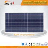 Widely use tempered glass solar panel poli 300w