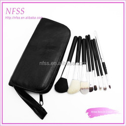 personalized brush factory cosmetic brush 10pcs make up brush zippered cosmetic bag