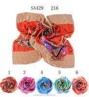 SA429 216 100% silk satin fabric muslim dress100% silk hijab shawl and scarvessupplier alibaba china
