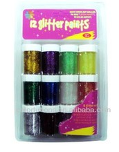 15 Color Blister Card Pack Non-toxic Glitter Glue with double blister packing