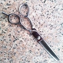 Wenzhou HengFeng Beauty Salon Products VG10 steel blade made in Japan Hair Thining Scissors , H37-JB626C8
