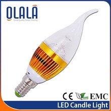 3000hours lifespan dimmable led candle light birthday