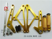 Wave 125 assemble motorcycle footrest/motorcycle tuning parts/motorcycle aluminum parts