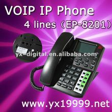 voip phone free call 4 lines IP phone,sip internet call