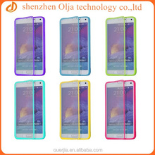 Hot selling flip screen protector phone case for samsung galaxy note 4, for samsung selling design cell phone cases