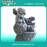 mini sleepy angel figurines tabletop angel fountain with led light