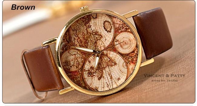 часы наручные карта мира