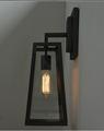 Retro británico estilo farola moderna forjado Industrial lámpara de pared de hierro