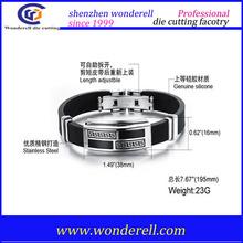 Silicone rubber bracelet hope faith silicone wristband