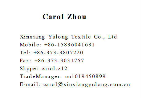 NFPA2112 fireproof material cotton fabric for garment