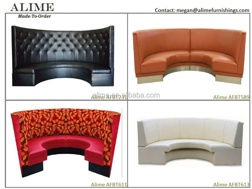 Alime Round Restaurant Booth Curved Banquette Booth Seating Buy Round Resta
