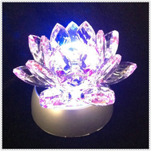 LED Shining Crystal Grass Lotus Flower For Wedding Decorations