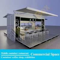 2015 the latest mobile food container restaurant design,modular shipping container restaurant