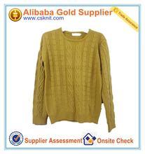 Patrón que hace punto vestido de suéter / suéter de cachemira india