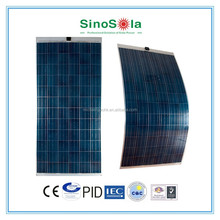 TUV approved 315w flexible solar panel with solar panel glass for home on grid solar system with CEC/CE/CQC