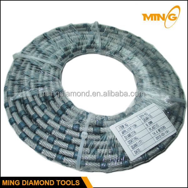 High Cutting Speed Plastic Wire Saw Diamond Cutting Wire Saw For ...