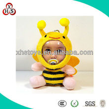 DIY cute soft plush animal toy bee with different faces