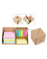 Imprinted Sticky Box with colored sticky note/Promotional Memo Pad Box/Sticky Note Box Gift Set