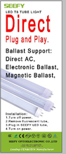 T8 1498mm LED Tube work with electronic ballast and magnetic ballast (KVG, EVG,VVG)