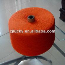 teñido de poliéster algodón mezclado hilados de alfombras