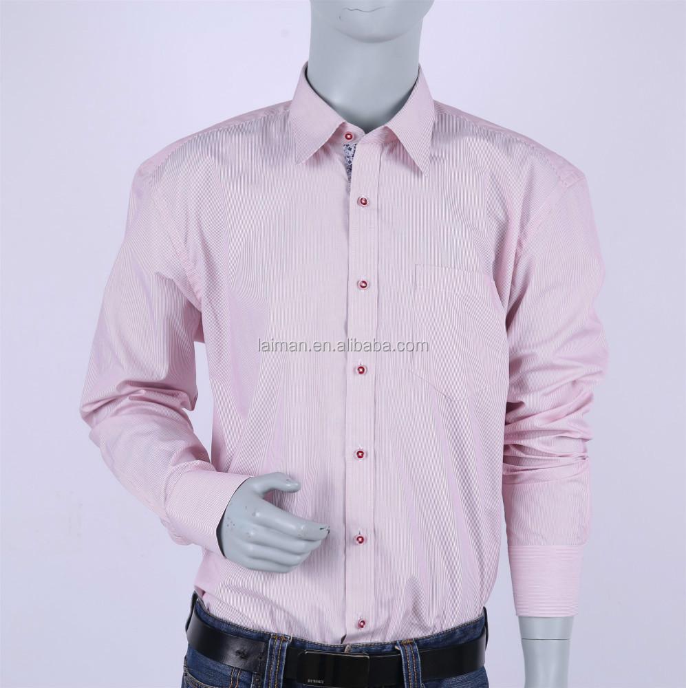 100 cotton new button down shirts fashion pinstripe long for Mens 100 cotton button down shirts