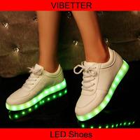 hot sale fashion adults led light shoes casual for male female, good quality big size led shoe men led flash shoes