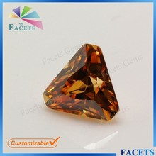 Champagne Triangle Cut Corner Made in Chnia Very Large Gemstones for Sale