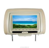 7 inch automobile Headrest DVD with IR FM USB SD Zipper Cover