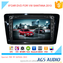 8 inch car dvd gps navigation for Volkswagen SANTANA 2013 system with TV/Bluetooth/iPod/RDS/mp3/radio