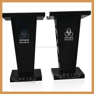 personalizzato basamento podio nero, acrilico portatile leggio digitale