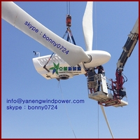 60kw pitch controlled permanent magnetic generator pmg wind turbine , farm use 60kw wind turbine