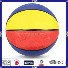 low price colored rubber basketball