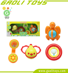 New products baby turtle small plastic toys bird shape rattle toy for kids GL2344M