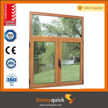 Fashion Home Design Aluminium Windows and Doors, aluminium casement window with Tempered Double Glass