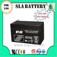 12v1.2AH valve reguated battery solar battery Maintenance free battery