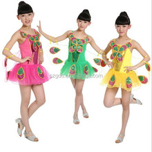 Promotion price High quality Children Peacock dance Costumes dress Minority Dance Costumes for Girl