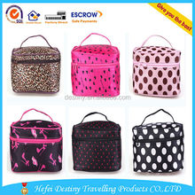 Fashion dots stain cosmetic bag waterproof travel stain toiletry bags