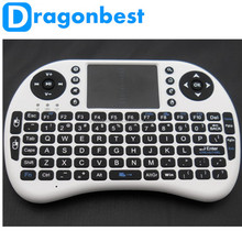 Portable mini keyboard Rii Mini i8 air mouse Wireless Keyboard with Touchpad for PC Andriod smart TV Box