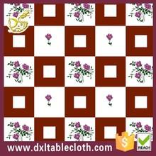 wholesale Non-slip printed vinyl lace round tablecloth