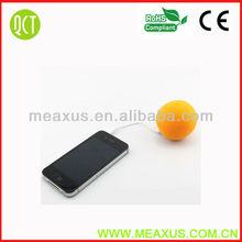 Hot Orange High Definition Colorful 3.5mm Mini Portable Stereo Speaker Dock for Smartphone