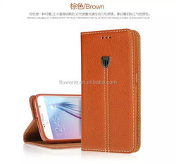 FL3545 XUNDD noble Slim Thin Fashion Flip Leather Stand Case with wallet Cover For samsung galaxy s6