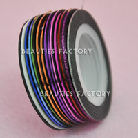 Beauties Factory Self Adhesive Nail Art Strip Tape Sticker (16 color Available)