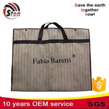 strip non woven or peva suit cover bag for garment with double handles