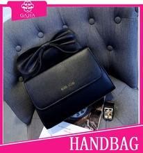 2015 Black lovely bow Korean custom dust bag for handbag cheap branded bags handbag lining high quality pu leather tote bag